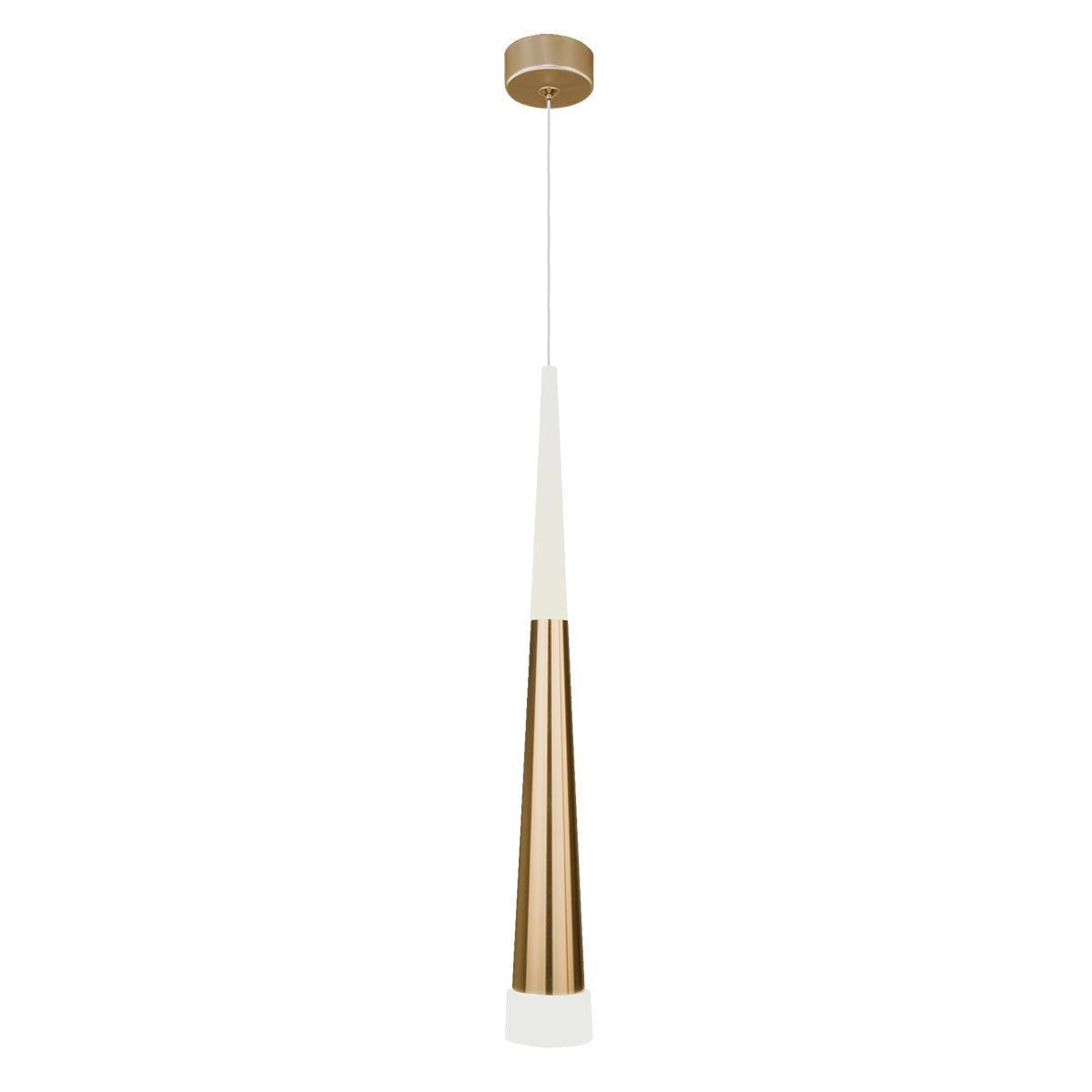 Подвесной светодиодный светильник Elektrostandard DLR038 7+1W 4200K золото 4690389146343