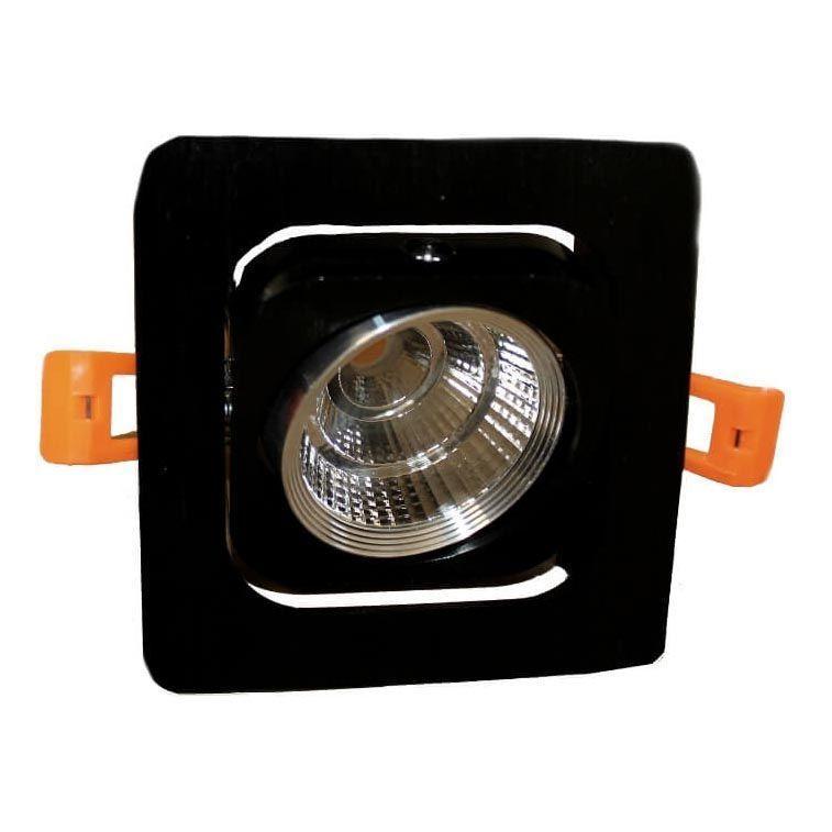 Встраиваемый светодиодный светильник Lumina Deco Fostis LDC 8064-SS-7WCOB-L98*W98 SL+BK