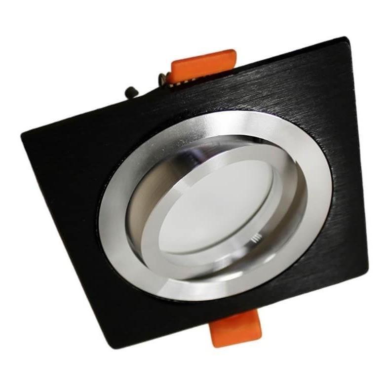 Встраиваемый светильник Lumina Deco Luka LDC 8062-JP-L90*W90 BK+SL