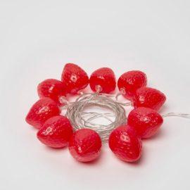 Светодиодная гирлянда (UL-00003394) Uniel Клубника красный ULD-S0400-010/STB/2AA Red IP20 Strawberry