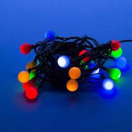 Светодиодная гирлянда (11093) Uniel разноцветные шарики 220V разноцветный ULD-S0280-020/DGA Multi IP20 Colorballs