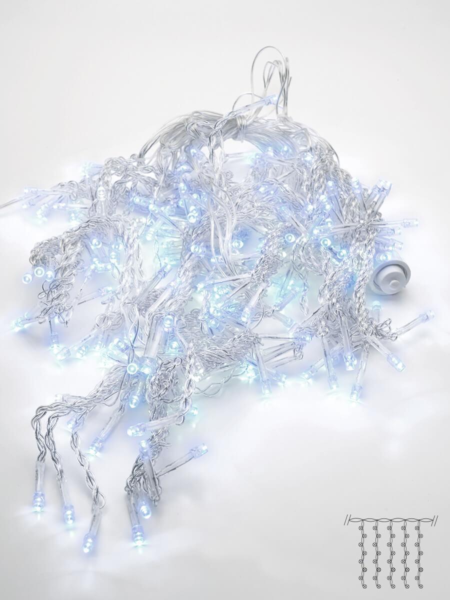 Светодиодная гирлянда Feron Бахрома 230V 5000K холодный белый без мерцания CL23 32349