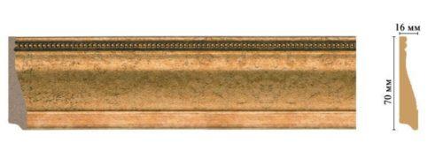 Плинтус напольный Decomaster 193-58 (70*16*2400)