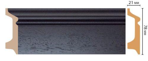 Цветной напольный плинтус DECOMASTER D122-433 ДМ ШК/16 (78*21*2400 мм)