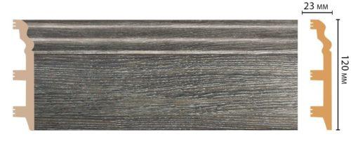 Цветной напольный плинтус DECOMASTER D233-87 ШК/8 (120*23*2400 мм)