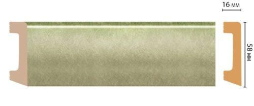 Цветной напольный плинтус DECOMASTER D234-373 ШК/15 (58*16*2400 мм)