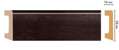 Цветной напольный плинтус DECOMASTER D234-433 ШК/15 (58*16*2400 мм)