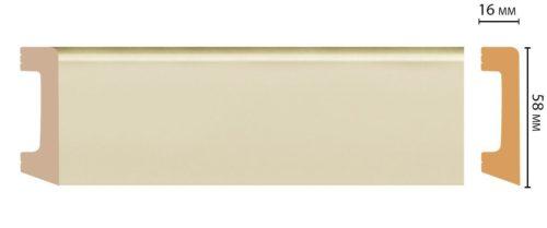 Цветной напольный плинтус DECOMASTER D234-61/15 ДМ (58*16*2400 мм)