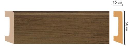 Цветной напольный плинтус DECOMASTER D234-88 ШК/15 (58*16*2400 мм)