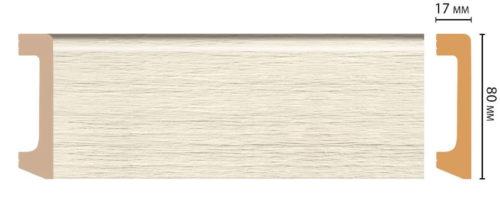 Цветной напольный плинтус DECOMASTER D235-1070 ШК/20 (80*17*2400 мм)
