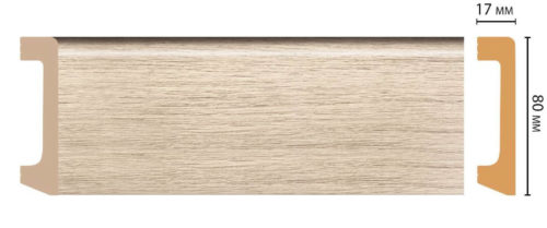 Цветной напольный плинтус DECOMASTER D235-72 ШК/20 (80*17*2400 мм)