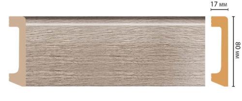 Цветной напольный плинтус DECOMASTER D235-77 ШК/20 (80*17*2400 мм)