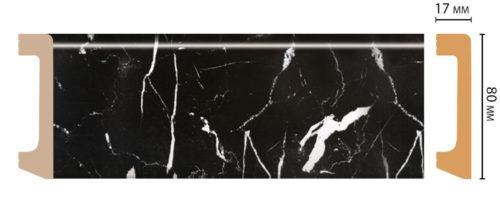 Цветной напольный плинтус DECOMASTER D235-78 ШК/20 (80*17*2400 мм)