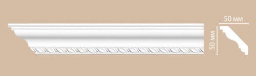 Плинтус потолочный с рисунком DECOMASTER 95638F гибкий (50*50*2400мм)