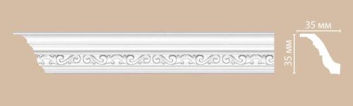 Плинтус потолочный с рисунком DECOMASTER 95842F (35*35*2400мм)