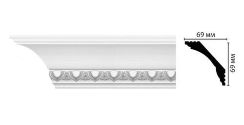 Плинтус потолочный с рисунком DECOMASTER D100AДМ (69*69*2000мм)