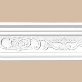 Плинтус потолочный с рисунком DECOMASTER 95036F гибкий (83*66*2400мм)