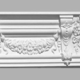 Плинтус потолочный с рисунком DECOMASTER 95092 (130х110х2400мм)
