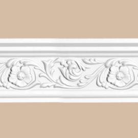 Плинтус потолочный с рисунком DECOMASTER 95323F гибкий (88*55*2400мм)