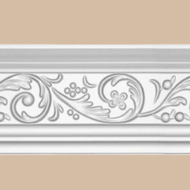 Плинтус потолочный с рисунком DECOMASTER 95343 (117*57*2400мм)
