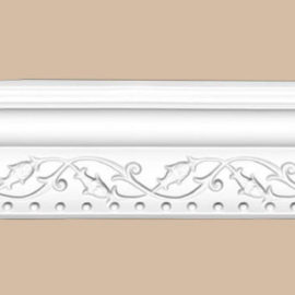Плинтус потолочный с рисунком DECOMASTER 95621F гибкий (84*74*2400мм)