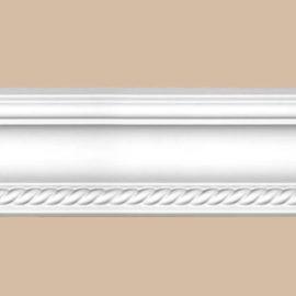 Плинтус потолочный с рисунком DECOMASTER DT-128F гибкий (58*60*2400мм)
