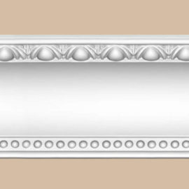 Плинтус потолочный с рисунком DECOMASTER DT-88107F гибкий (130*115*2400мм)