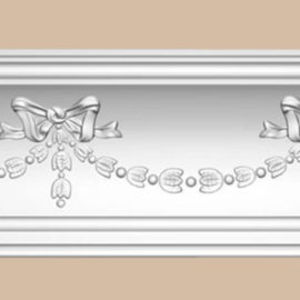 Плинтус потолочный с рисунком DECOMASTER DT218 (137*125*2400мм)