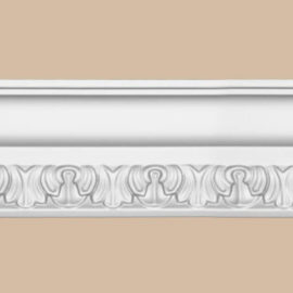 Плинтус потолочный с рисунком DECOMASTER DT33F гибкий (80*35*2400мм)