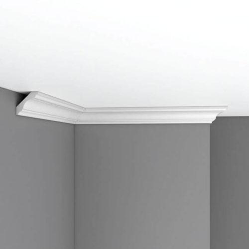 Плинтус потолочный гладкий DECOMASTER 96215F гибкий (45*45*2400мм)