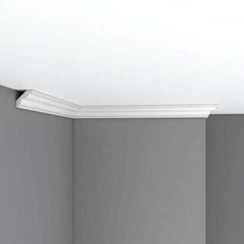 Плинтус потолочный гладкий DECOMASTER 96230F гибкий (35*35*2400мм)