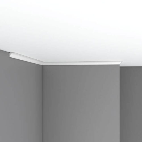 Плинтус потолочный гладкий DECOMASTER 96240F гибкий (16*16*2400мм)