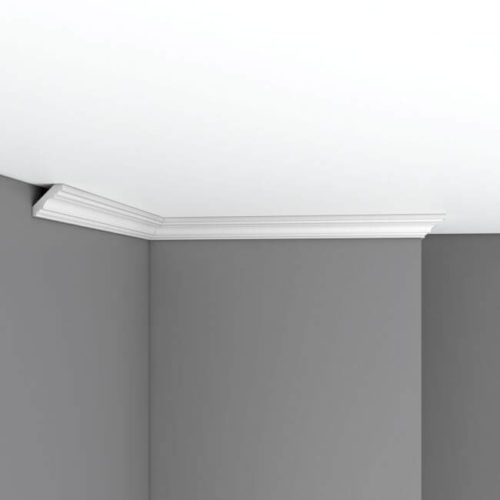 Плинтус потолочный гладкий DECOMASTER 96681F гибкий (31*31*2400мм)
