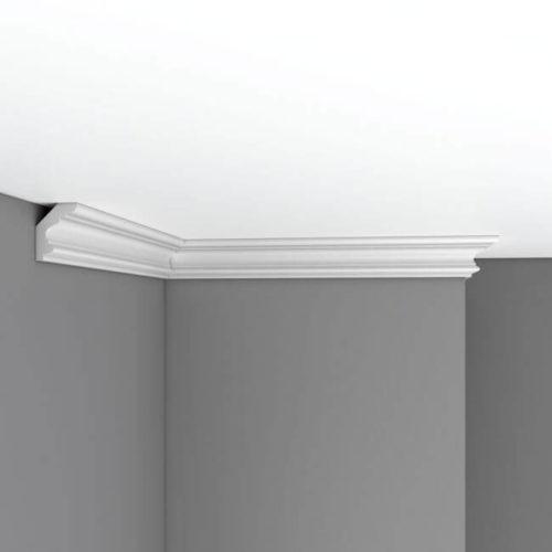 Плинтус потолочный гладкий DECOMASTER 96686 (50*38*2400мм)