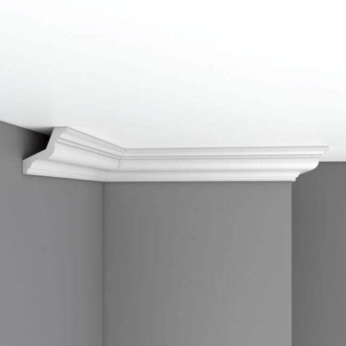 Плинтус потолочный гладкий DECOMASTER 96801 (65*65*2400мм)