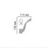 Плинтус потолочный гладкий DECOMASTER DT-85606 (142*115*2400мм)