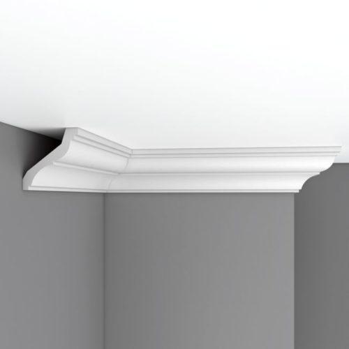 Плинтус потолочный гладкий DECOMASTER 96120F гибкий (80*84*2400мм)