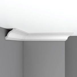 Плинтус потолочный гладкий DECOMASTER 96257F гибкий (70*70*2400мм)