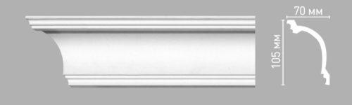 Плинтус потолочный гладкий DECOMASTER 96263 (105х70х2400мм)