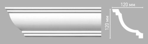 Плинтус потолочный гладкий DECOMASTER 96274 (120х120х2400мм)