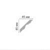 Плинтус потолочный гладкий DECOMASTER 96406 (85*85*2400мм)