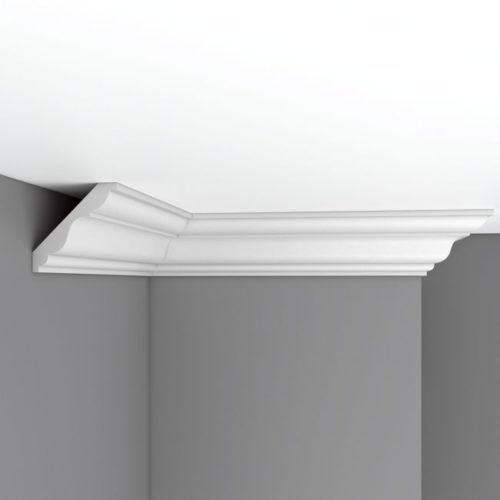 Плинтус потолочный гладкий DECOMASTER 96406F гибкий (85*85*2400мм)
