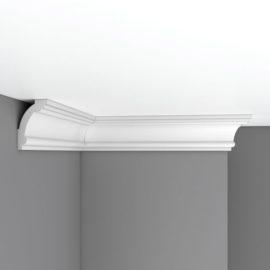 Плинтус потолочный гладкий DECOMASTER 96611 (90*56*2400мм)
