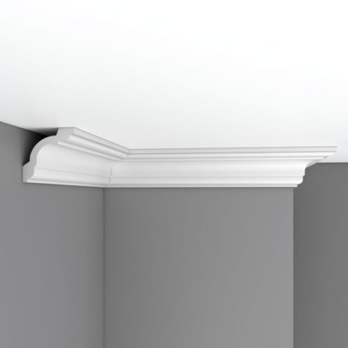 Плинтус потолочный гладкий DECOMASTER 96630F гибкий (75*75*2400мм)