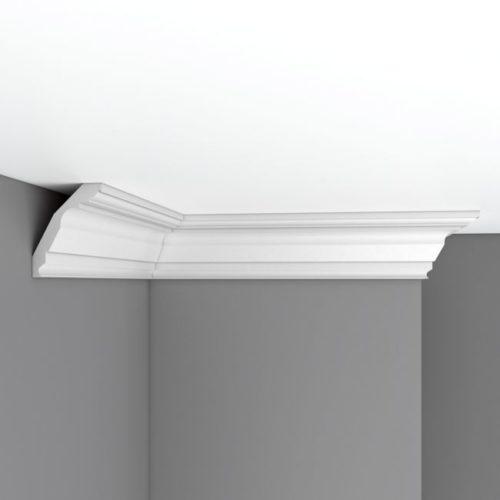 Плинтус потолочный гладкий DECOMASTER 96804 (90*70*2400мм)