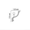 Плинтус потолочный гладкий DECOMASTER 96901F гибкий (150*120*2400мм)