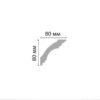 Плинтус потолочный гладкий DECOMASTER DP 213F гибкий (80*80*2400мм)