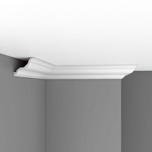 Плинтус потолочный гладкий DECOMASTER DP356A (115х110х2400)